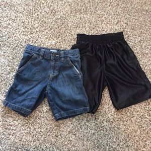 2 Pairs Little Boy's Shorts Sz 4T/4